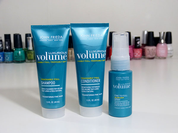 John Frieda Shampoo, Conditioner and Blow Out Spray for Fine Hair