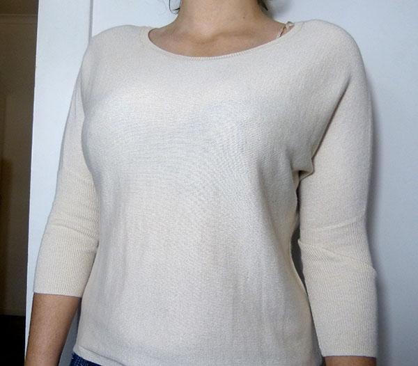 Dotti Cream Knit Shirt