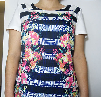 Ally Floral Stripe Shift Dress